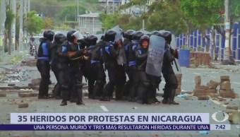 Siguen las protestas en contra del presidente de Nicaragua, Daniel Ortega