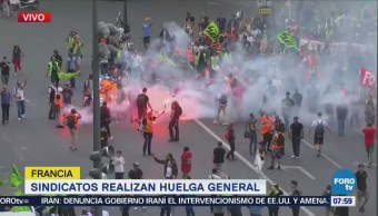 Sindicatos realizan huelga general en Francia