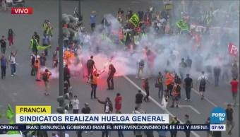 Sindicatos realizan huelga general en Francia
