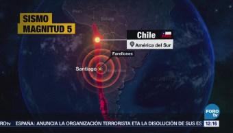 Sismo de mediana intensidad sacude el centro de Chile