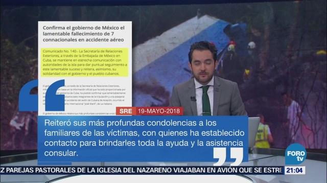 SRE Confirma 7 Mexicanos Murieron Accidente Aéreo Cuba