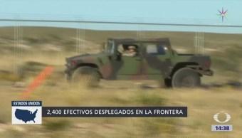 Suman 2 mil 400 elementos de la Guardia Nacional en la frontera