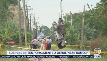 Suspenden Temporalmente Aerolíneas Damojh