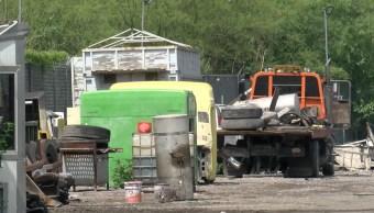 Recuperan unidades de carga tras cateo en taller en Apodaca NL