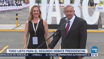 Todo listo para segundo debate presidencial en Tijuana