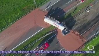 Toneladas Chocolate Cierran Una Carretera Polaca