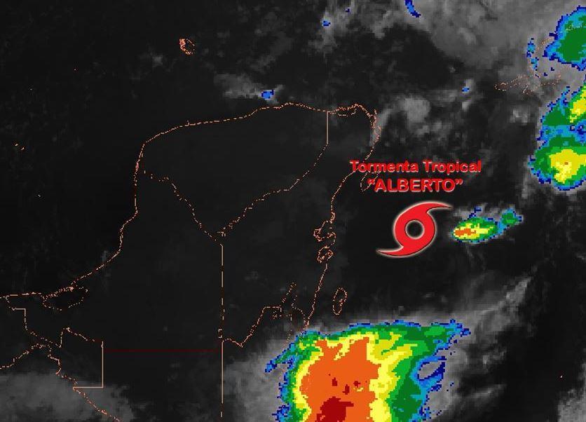 tormenta tropical alberto se ubica frente costas quintana roo