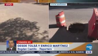 Tras Reporte Rellenan Coladera Abierta Cdmx
