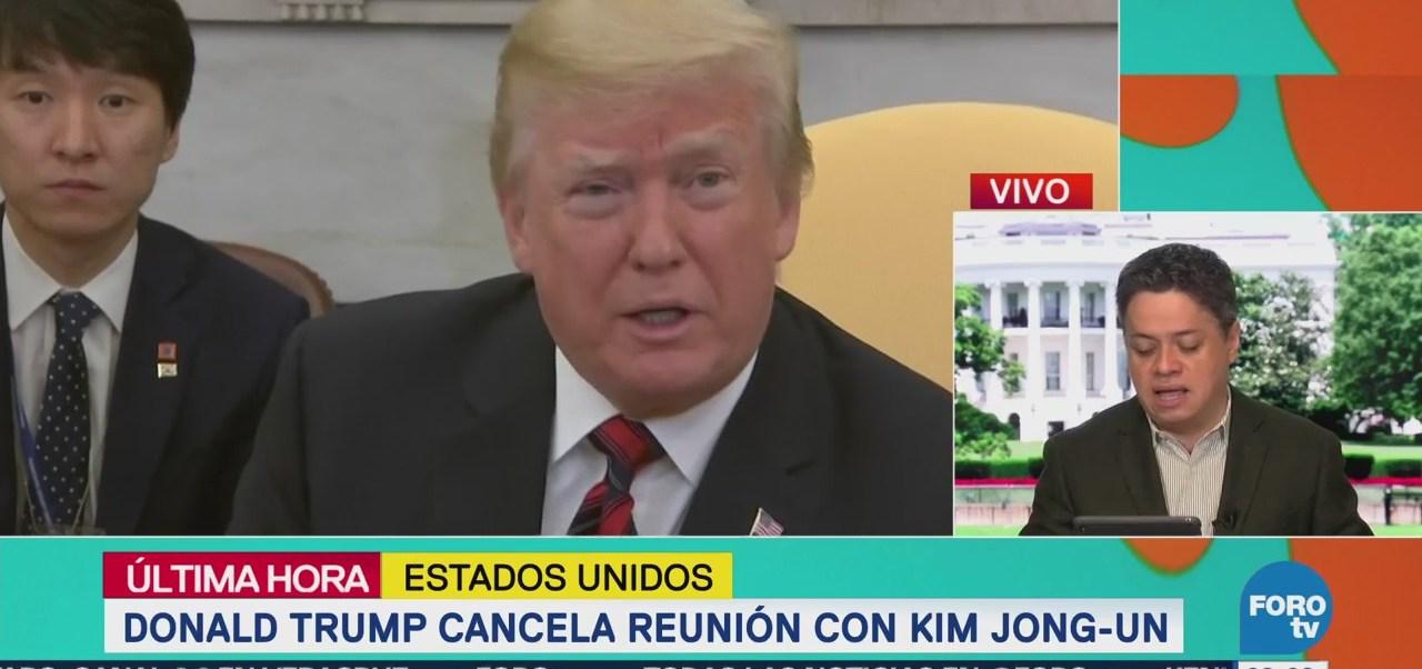 Trump da marcha atrás y cancela cumbre con Kim