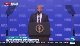Trump Participa Convención Asociación Nacional Del Rifle