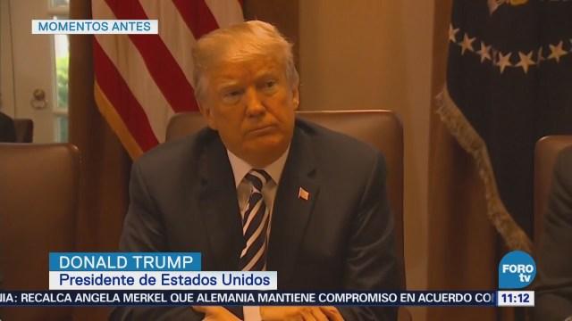 Trump se reúne con su gabinete en la Casa Blanca