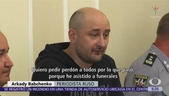 Ucrania realiza montaje del asesinato de un periodista