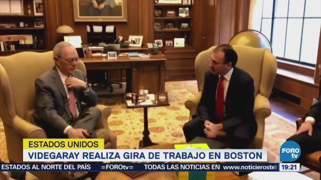 Videgaray Realiza Gira Trabajo Boston EU