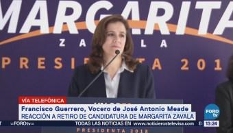 Vocero de Meade hace llamado a simpatizantes de Margarita Zavala