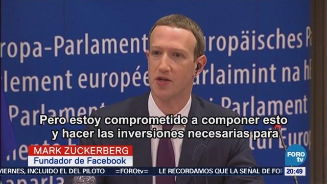 Zuckerberg se disculpa ante la Eurocámara