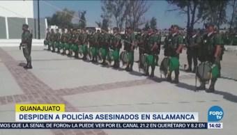 Despiden Policías Asesinados Salamanca, Guanajuato