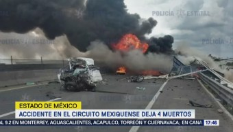 Accidente en Circuito Exterior Mexiquense