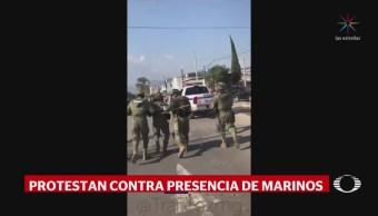 Agreden a marinos en Ciudad Guzmán