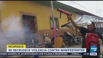 Recrudece Violencia Contra Manifestantes Nicaragua