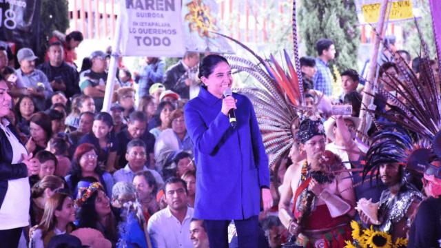 Barrales se compromete a defender los pueblos originarios