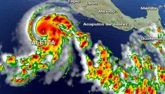 'Aletta' evoluciona a huracán, primero de la temporada en el Pacífico
