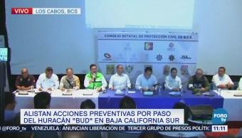 Alistan acciones preventivas en BCS por paso tormenta 'Bud'