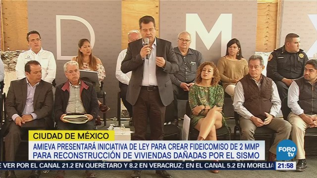 Amieva Presenta Iniciativa Reconstrucción CDMX Sismo