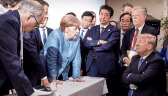 La tensión entre miembros del G7