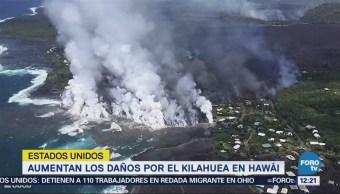 Aumentan daños en Hawái por el Volcán Kilauea
