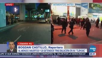Balacera en Tláhuac deja tres muertos