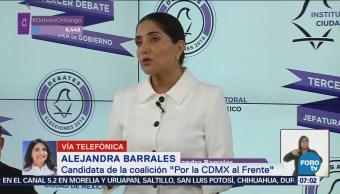 Barrales: Sheinbaum se comportó como candidata de segundo lugar en debate