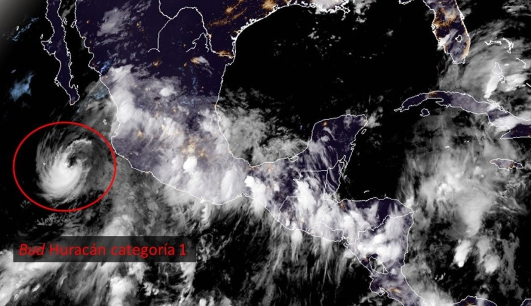 'Bud' se debilita a huracán categoría 1