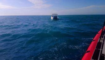 Semar rescata a tripulantes de yate en Campeche
