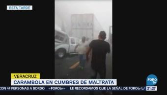 Carambola Cumbres Maltrata Veracruz Accidentes Puebla