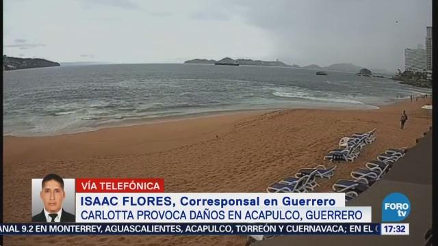'Carlotta' pierde fuerza y ya es depresión tropical