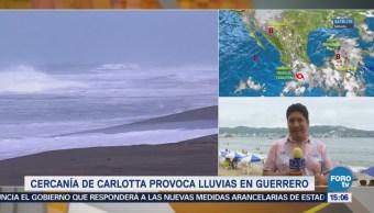 Cercanía Carlotta Provoca Lluvias Acapulco Guerrero