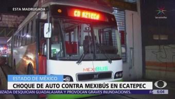 Choque entre auto y Mexibus deja un muerto en Ecatepec