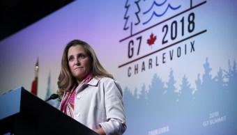 Aranceles EU son ilegales, dice Canadá en G7