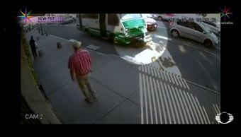 Ciclista atropellado por microbús de CDMX exige justicia