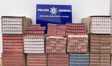 Aseguran más de 462 mil cigarros ilegales en Baja California