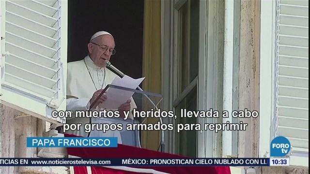 Papa Francisco Hace Llamado Paz Nicaragua