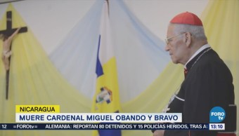 Muere Cardenal Obando, Mediador Vida Política Nicaragua
