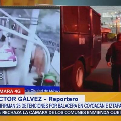 Confirman 25 detenciones por balacera en avenida Tláhuac
