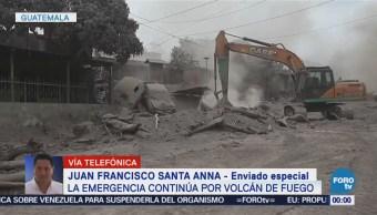 Continúa emergencia por erupción del Volcán