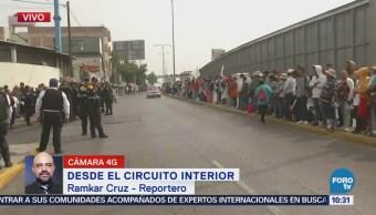 Continúa la llegada de manifestantes a Circuito Interior