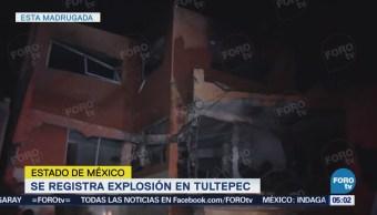 Continúan labores por explosión en Tultepec