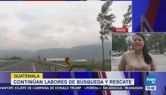 Continúan Labores Rescate Guatemala