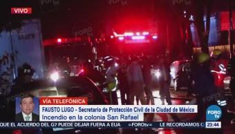 Controlan Fuga Gas Incendio Colonia San Rafael