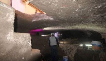 Descubren cripta debajo del Templo de Dolores, en Puebla