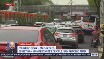 Damnificados del sismo 19S realizan bloqueos en la CDMX